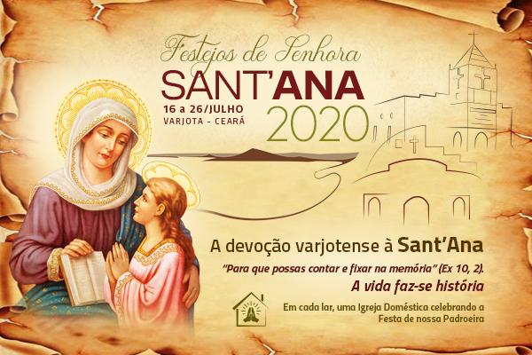 Paróquia Senhora Sant'Ana celebrará Festa da Padroeira com transmissões online, sem a presença dos fiéis